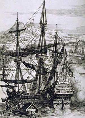 Spanish galleon. Source: Wikimedia Commons