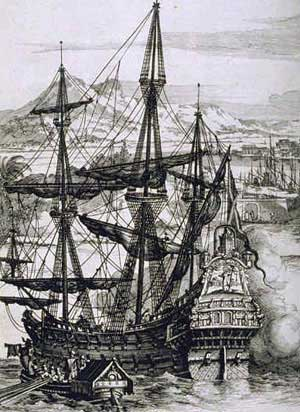 Spanish galleon. Source: Wikimedia Commons