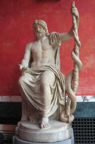 Asclepius یونانی باستان و خدای پزشکی آن زمان به حساب می آمد