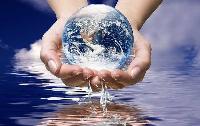Water is a clear thin liquid that has no colour or taste when it is pure