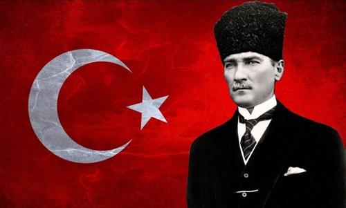 مصطفی کمال آتاتورک بنیانگذار جمهوری ترکیه