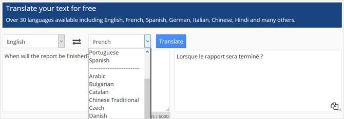 CollinsTranslator-SampleAndLanguages