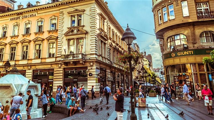 Street life in Knez Mihailova, the heart of Belgrade's Old Town © Kirill Makarov / Shutterstock