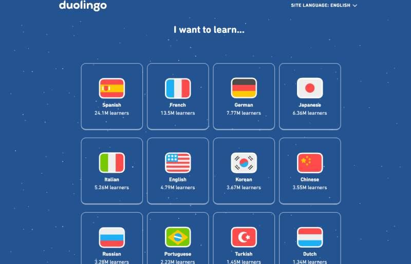 I want to learn Duolingo