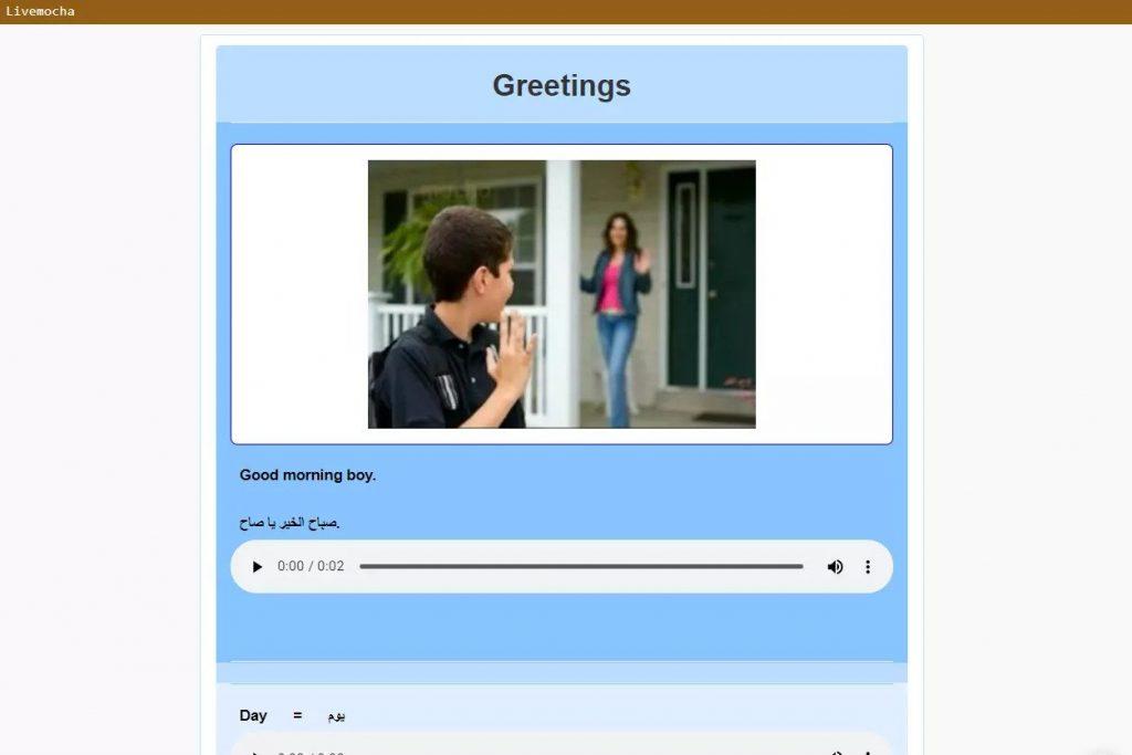 Livemocha online language learning lesson