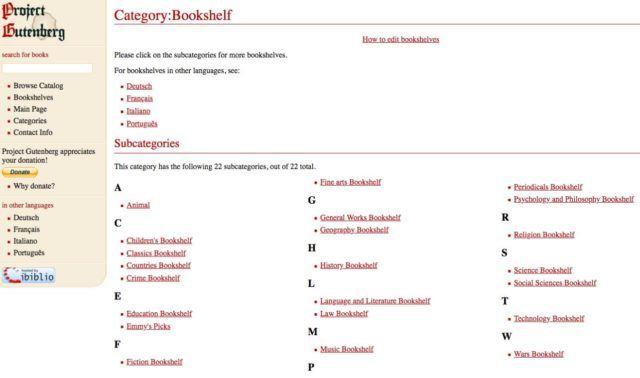 دانلود کتاب رایگان از سایت Project Gutenberg