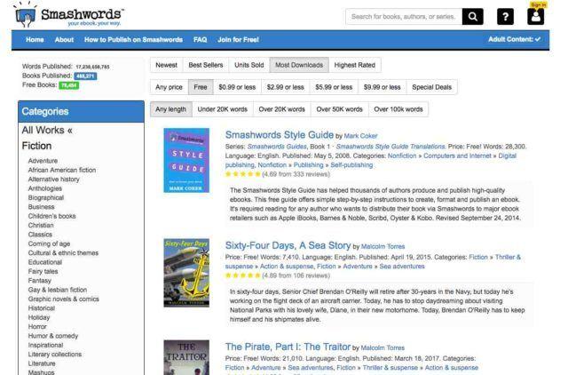 دانلود رایگان کتاب دیجیتالی از سایت Smashwords