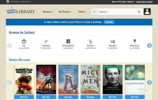 سایت دانلود کتاب open library