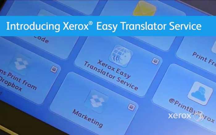 xerox easy translation service