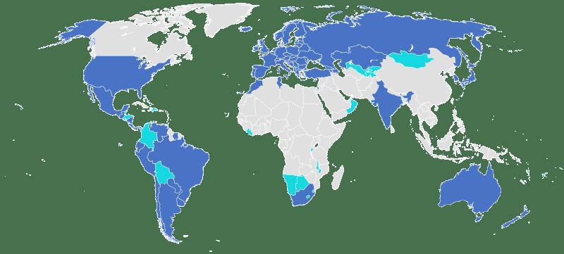 کشور های عضو Apostille