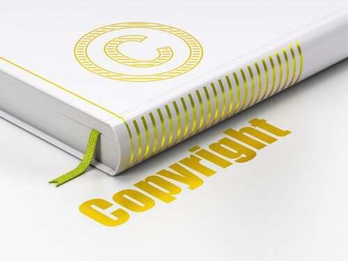 How to use a book for copyright